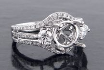 3 Stone Engagement Semi Mount Rings