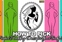 How to Pick the Perfect Wedding Dress for Your Body Shape / Before you even step into a bridal store, make sure you read this in-depth guide for picking the perfect dress for your body shape.   http://www.kimberleyandkev.com/pick-perfect-wedding-dress-body-shape/