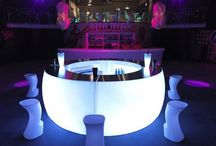 LED Furniture / LED Furniture for hire - ideal for weddings, parties, promotional events and product launches.  All units are battery and remote operated.  When fully charged they can last for 8-16 hours.  They are also waterproof so are suitable for indoor or outdoor use.
