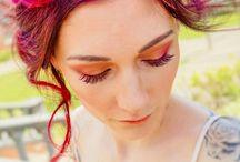 Wedding Hair Shoot with Vivid Hair