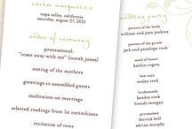 Wedding programs  / by Camellia Johnson