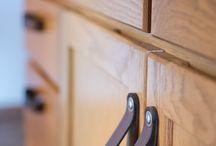 Leather Interior Design + Drawer Pulls