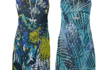 Sasa and Elizabeth Scott / Reversible dresses, perfect for cruises, holidays or special occasions! Transform your look daily by reversing the one print to the other!