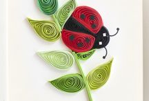 quilled lady bug