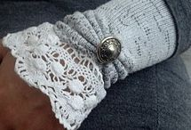 Ideas for embroidered arm warmers and mittens / ideas to make arms warm and eyes happy