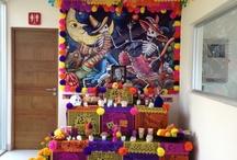 Altar de muertos y decoración
