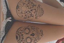 Div skull tattoo