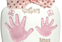 Ceramic Keepsakes - Sibling Handprints / A lovely way to capture sibling handprints all on one ceramic piece!