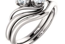 Two-stone Bridal Jewelry / Two-stone engagement rings featuring high quality diamonds and precious metals such as Platinum, Gold and Sterling Silver. Epiphany Tree Jewelry sells elegance and beauty times two.