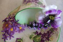 Tea Cup floral art board