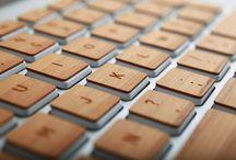 / O'Férè Skin en bois claviers / / Gamme de claviers en bois pour les claviers Macbook.  Fabrication française, bois de bamboo, de noyer et de chêne.