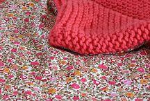 colcha de lana y tela