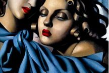 [1898 - 1980] Tamara De Lempicka / The intriguing events from the life of Tamara de Lempicka often overshadow the significant contribution she made to the development of modern art. Loosely defined as an 'Art Deco' artist, de Lempicka revolutionized the portrait style; more specifically, the role of subject as a liberated and independent woman. Her work is difficult to classify and features elements of traditional Art Deco (such as the nude female body) but also Cubism and other stylistic movements of the early 20th century. Embracing the 'synthetic cubist' method with small geometric planes of strong color, the trained artist created compelling works which are immediately recognizable. Yet more importantly, De Lempicka challenged the limitations imposed on the art and life of a woman.
