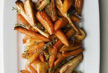 roasted parsnips n carrots