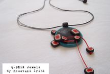 qbrix Jewels collection / Minimal  polymer clay jewelry