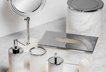 Koupelnové doplňky glamur / Koupelnové doplňky, Luxusní koupelové doplňky, Zlaté koupelnové doplňky, Bathroom accessories, Luxury bathroom accessories, Gold bathroom accessories.
