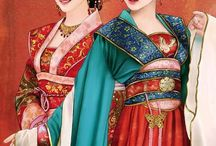 Chinise Painting. Water Color