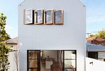 Narrow block house