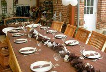 Mes décorations de table