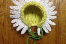 crochet easter bonnets