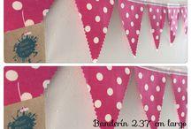 Banderines de triángulo #ateliermanosalaobra