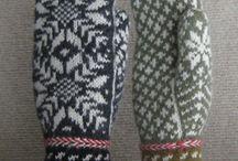 Вязание: носки, рукавички