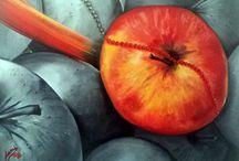 Gyümölcsök olajfestéssel / Fruits with oil