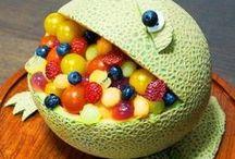 Melonensalat als Frosch