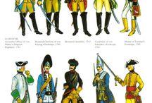 egyenruhák 18.század