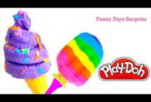 Ice Cream DIY Play-Doh & Realy crème glacée / DIY Ice Cream Homemade Play-Doh Chocolate Cake Waffle lollipop strawberry crème glacée helado 冰淇淋 kiwi Video for Kids from Funny Toyo Surprise Channel Youtube