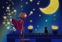 Night, moon and stars✨