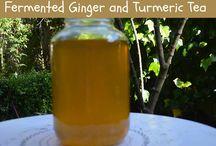 Fermented tumeric ginger tea
