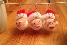 Christmas golf ball ornaments
