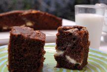 brownie con dulce de leche y mascarpone