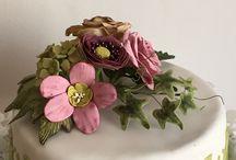 Cake,fondant,gumpaste / Decoratiuni tort,flori de zahar