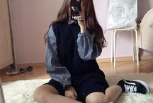 Ulzzang fashion 。^‿^。