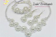 Bruids sieraden sets/Wedding jewerly sets bride / Bruidssieraden sets voor de bruid, handgemaakt, verzilverd en anti allergisch/Bridal jewerly sets for a Bride.