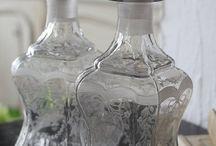 fľaše a sklo