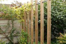 Tuin houtelementen zoals Pergola en poort