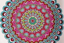 Art - Mandalas Zentangles Fractals Vectors Doodles Folk Art / Mandalas, Zentangles, Folk Art, Colouring Pages, Various Patterns and Designs, Vectors, Borders, Doodles, Fractals - Art