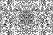 Black and White Pattern Colour Pages