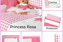 Ropa de cuna Rosa - Kiwisac / Ten la cuna de tu bebé a juego con esta preciosa colección de Kiwisac.
