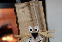 Osterhasen aus Holz