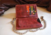 Travel ,Christmas gifts for him ,hand stiched , biker chain wallet