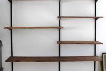 Bookshelves .