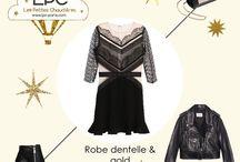 Robe dentelle & gold