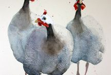 guinea fowl paintings