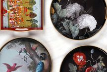 India Jane's V&A Collection / Taking inspiration from the extensive archives from the Victoria and Albert museum, London. The collection encompasses lighting, decorative ceramics, drinking glasses, cushions and decorative trays.