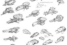Sketched SciFi Concepts