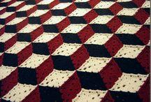 Block crochet squares